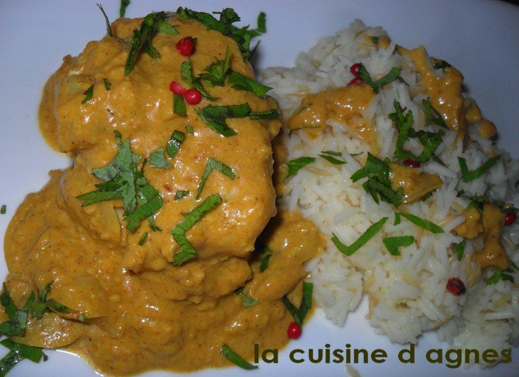 Souvent korma de lotte • La cuisine d'agnèsLa cuisine d'agnès TU35