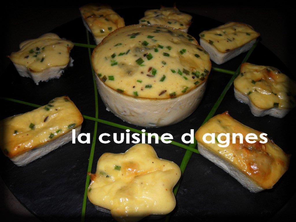 flans aux 3 fromages et aux fines herbes