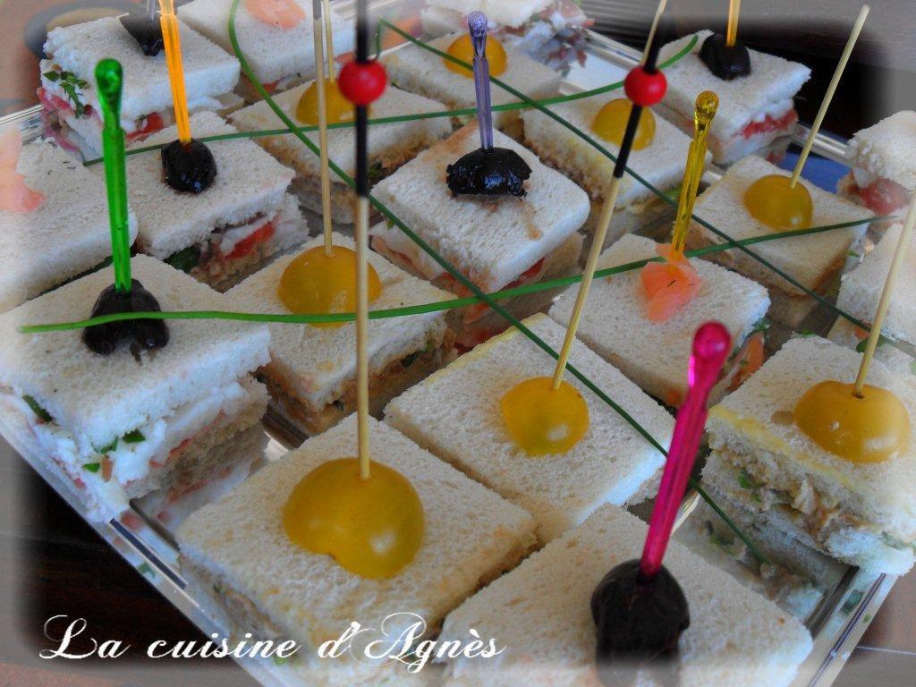 Mini club sandwiches la cuisine d 39 agn sla cuisine d 39 agn s - Idee pour un apero dinatoire ...