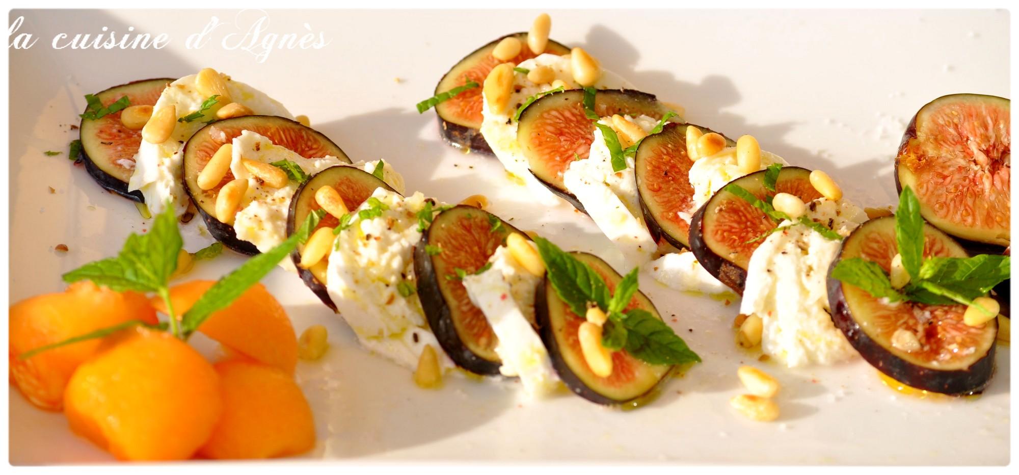 Salade de figues mozzarella la cuisine d 39 agn sla cuisine for Salade entree originale