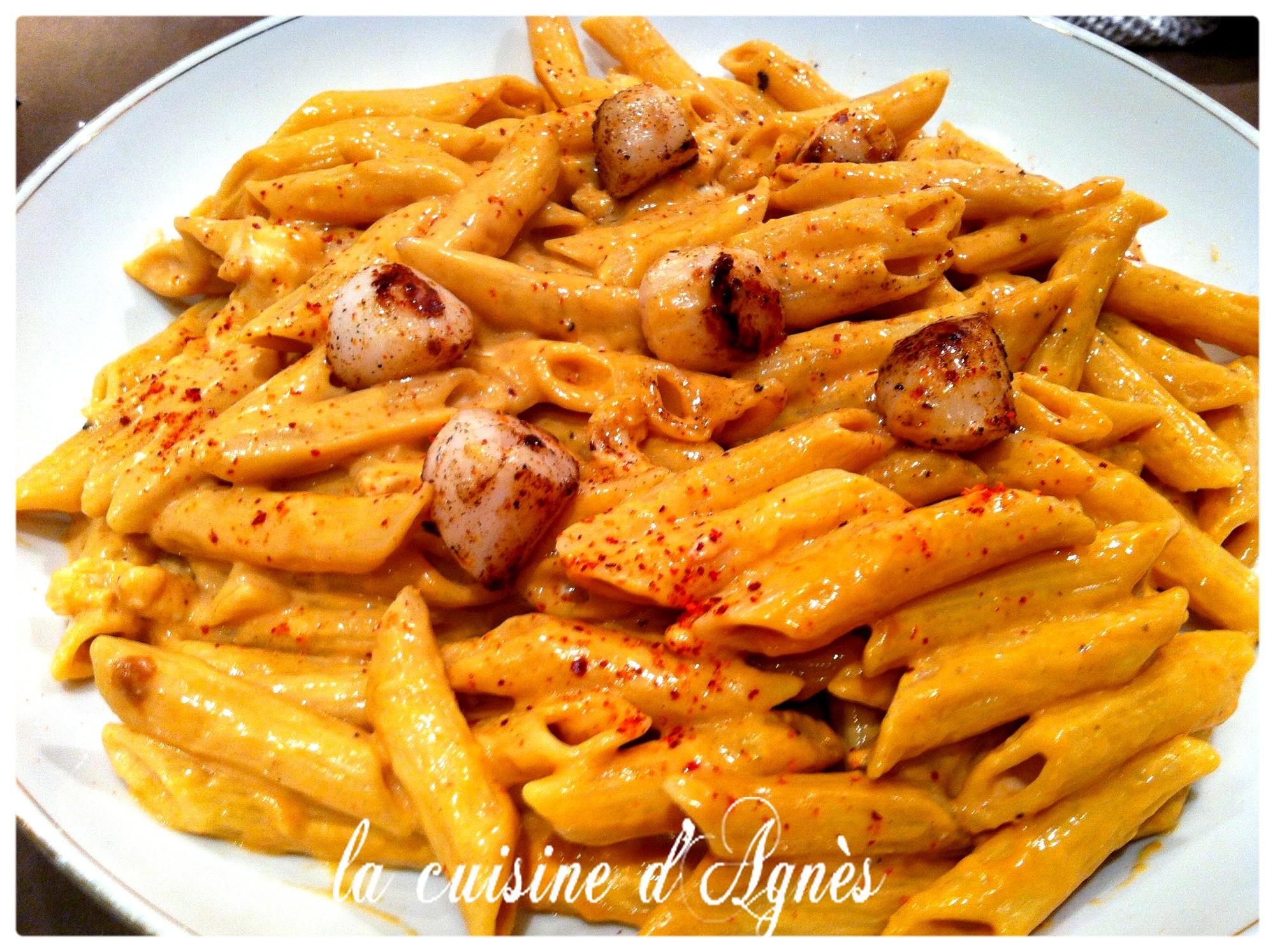 Penne A La Bisque De Homard La Cuisine D Agnesla Cuisine D Agnes