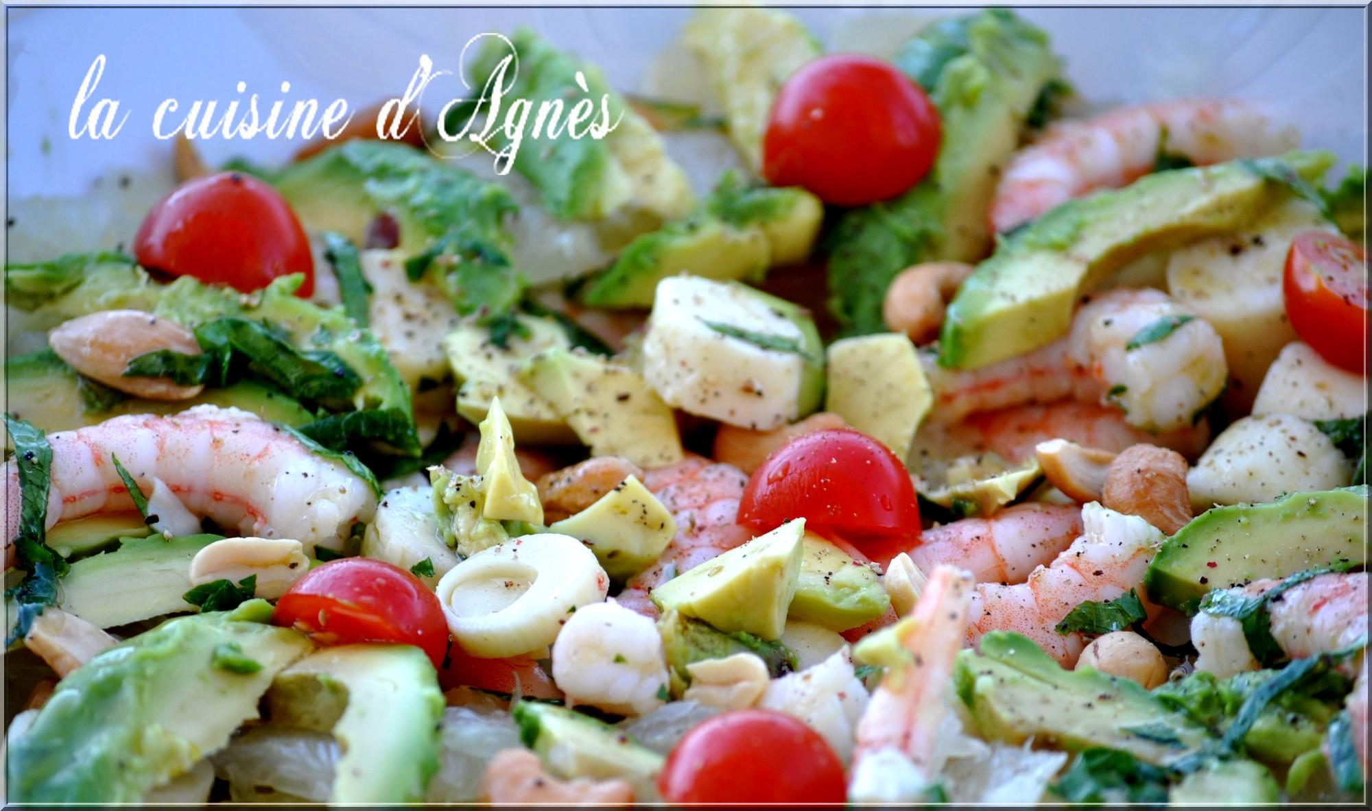 salade crevette avocat pomelo1