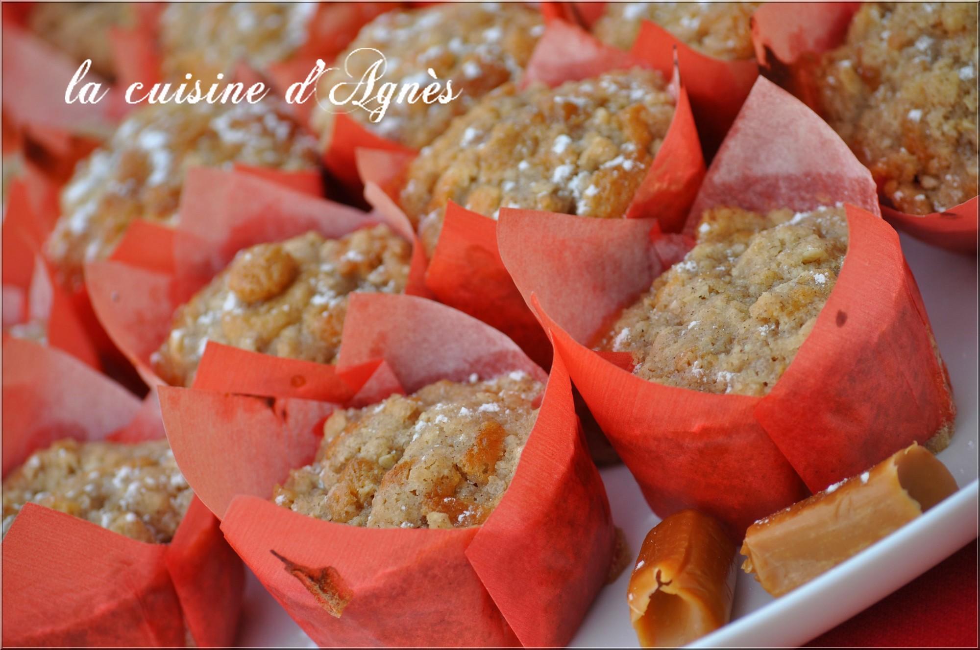 muffins streusel pommes caramel 5