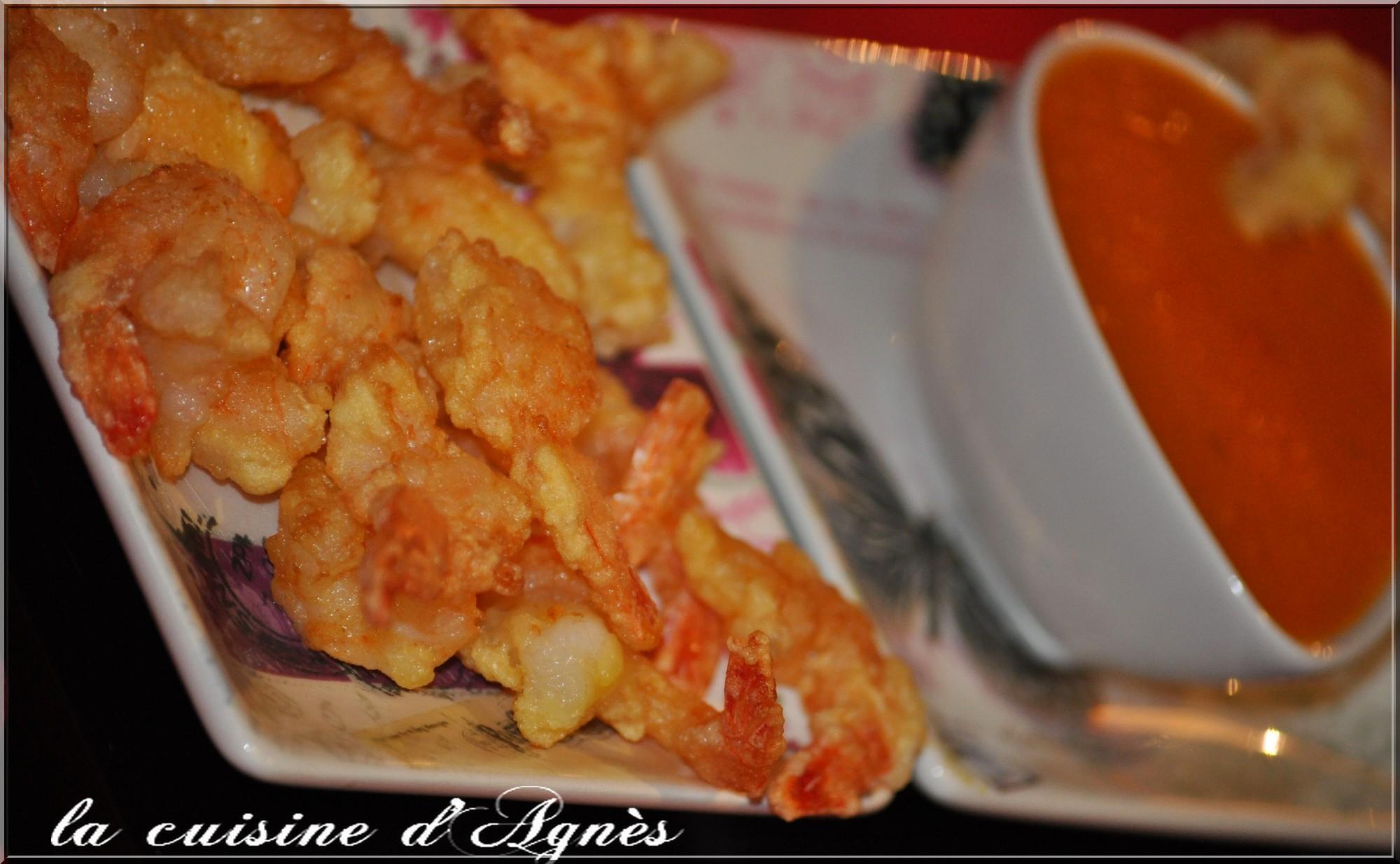 queues de crevettes frites sauce aigre douce 2