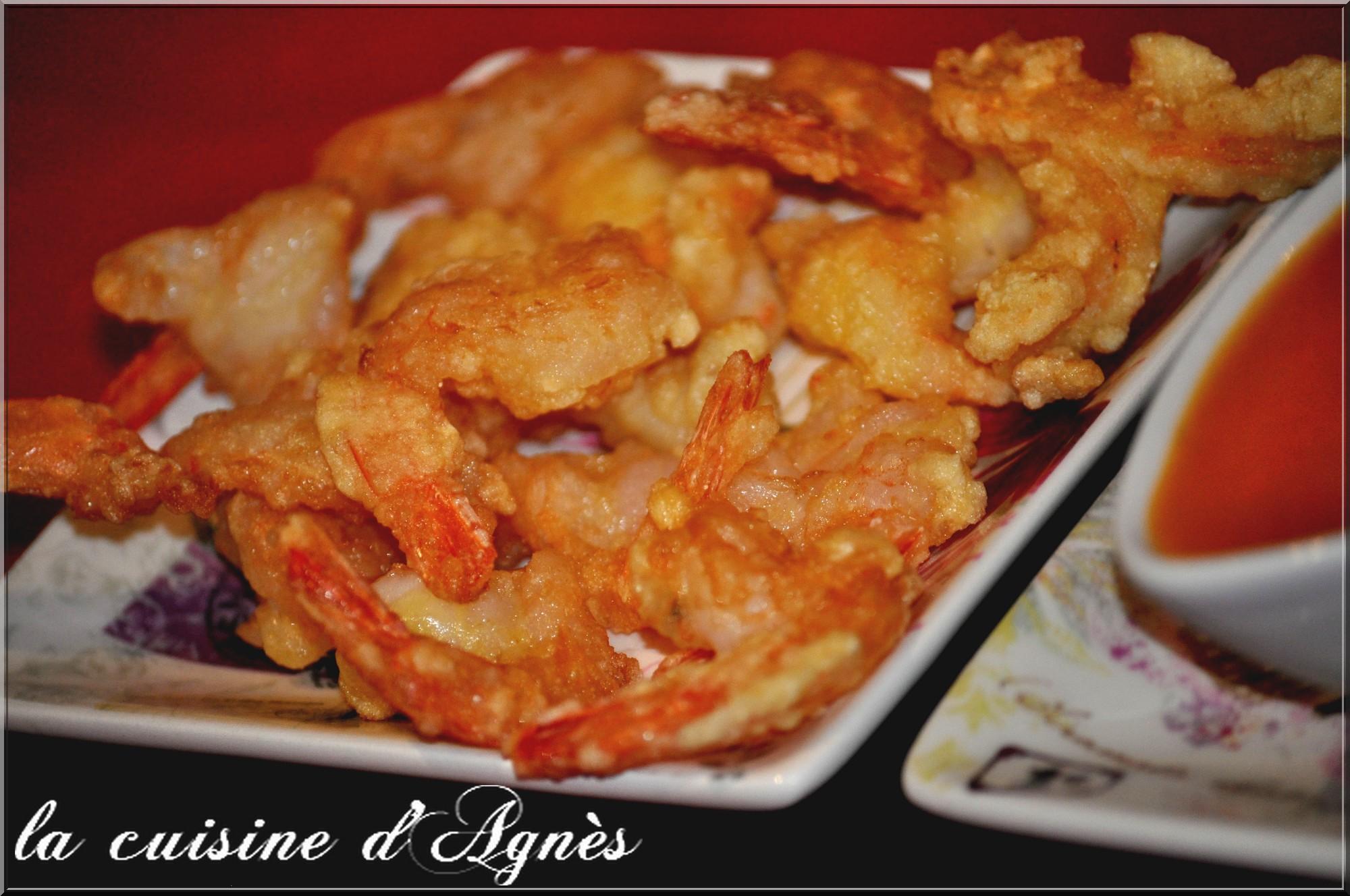 queues de crevettes frites sauce aigre douce 5
