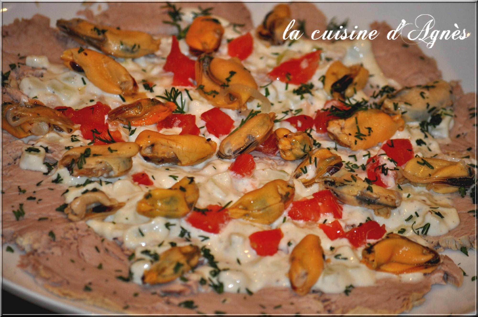 veau mayonnaise aux moules