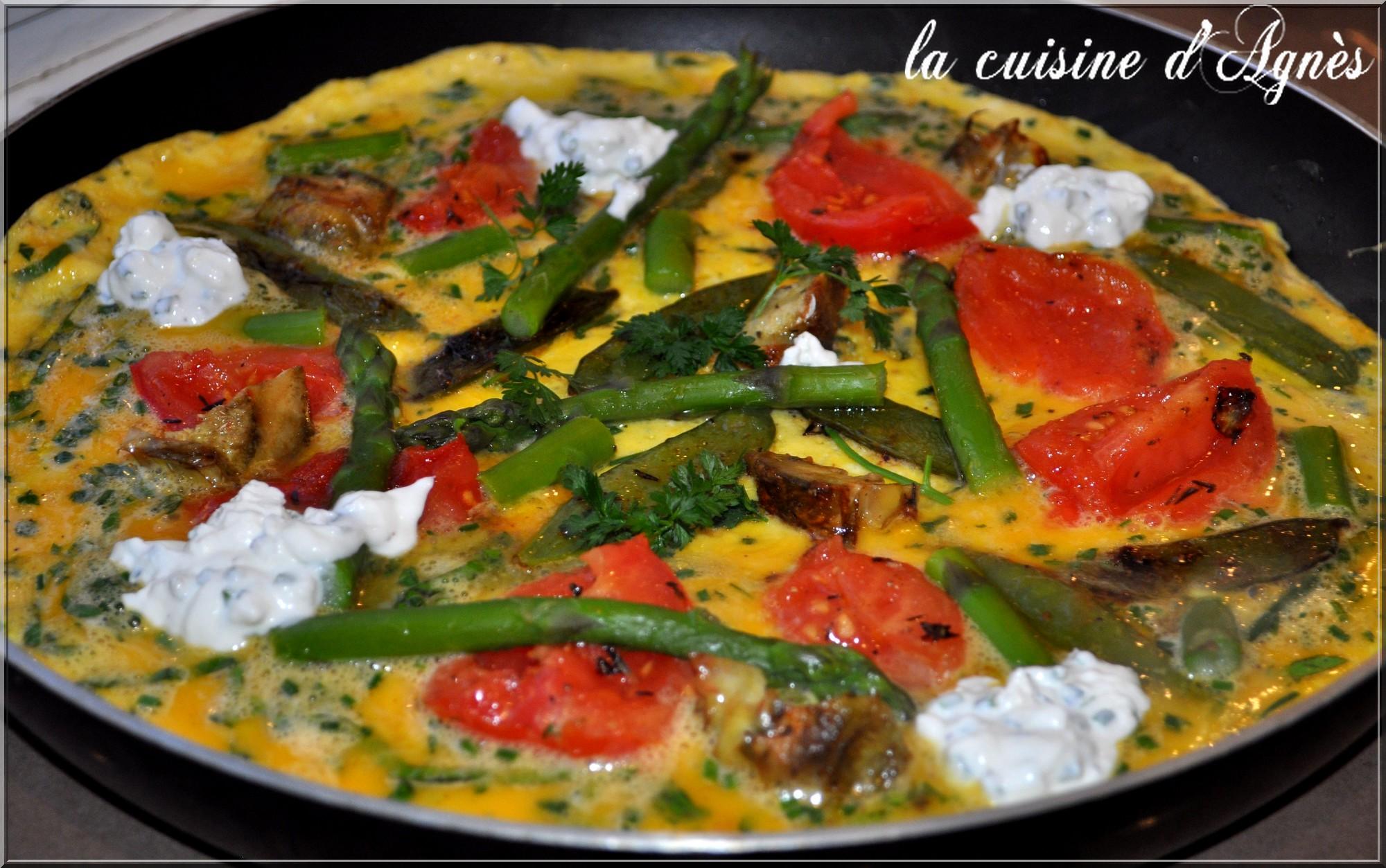 Omelette aux l gumes de printemps la cuisine d 39 agn sla for Aux beaux rivages la cuisine