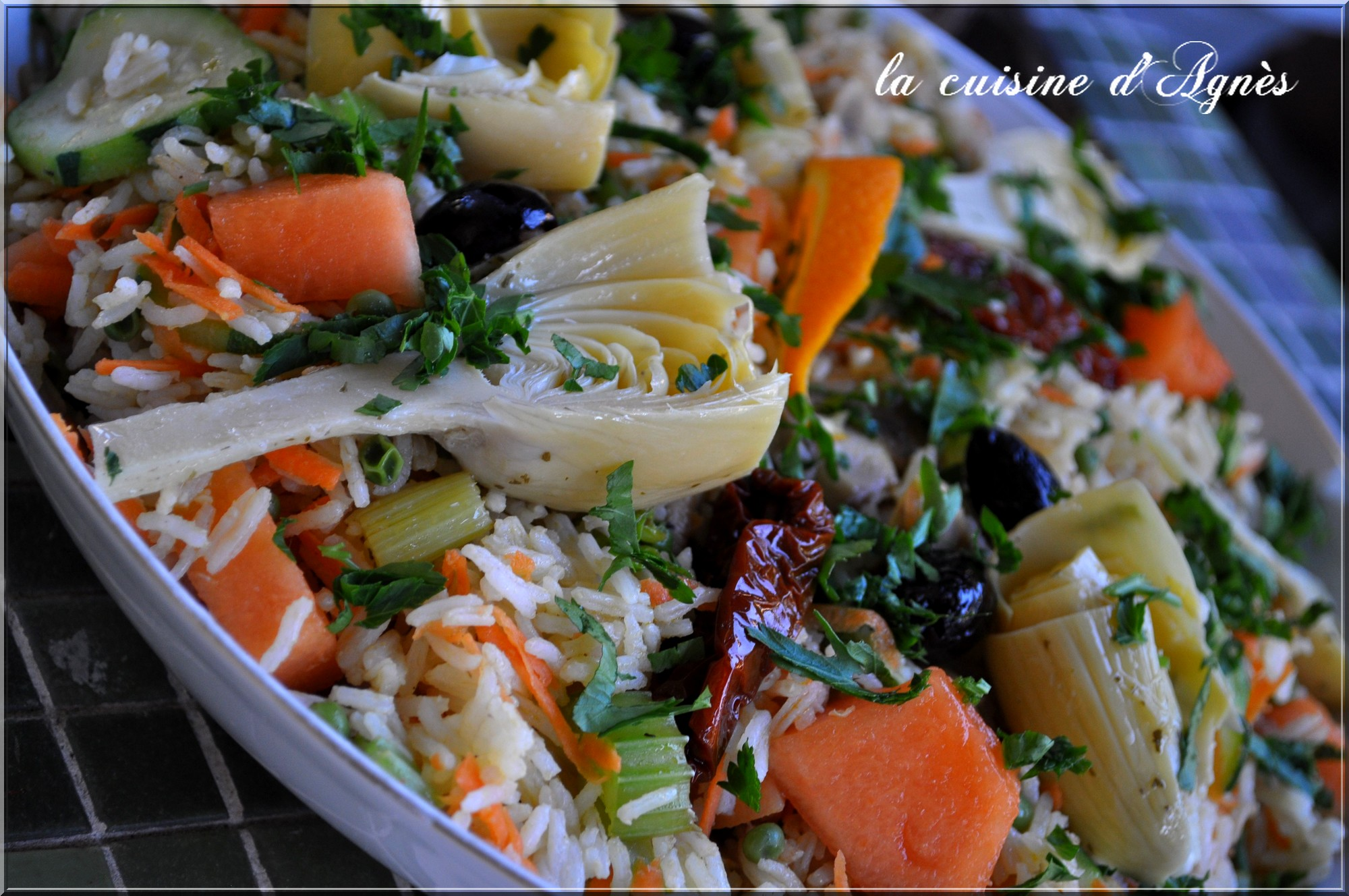 Salade ti de de riz aux l gumes la cuisine d 39 agn sla cuisine d 39 agn s - Peut on donner du riz cuit aux oiseaux ...