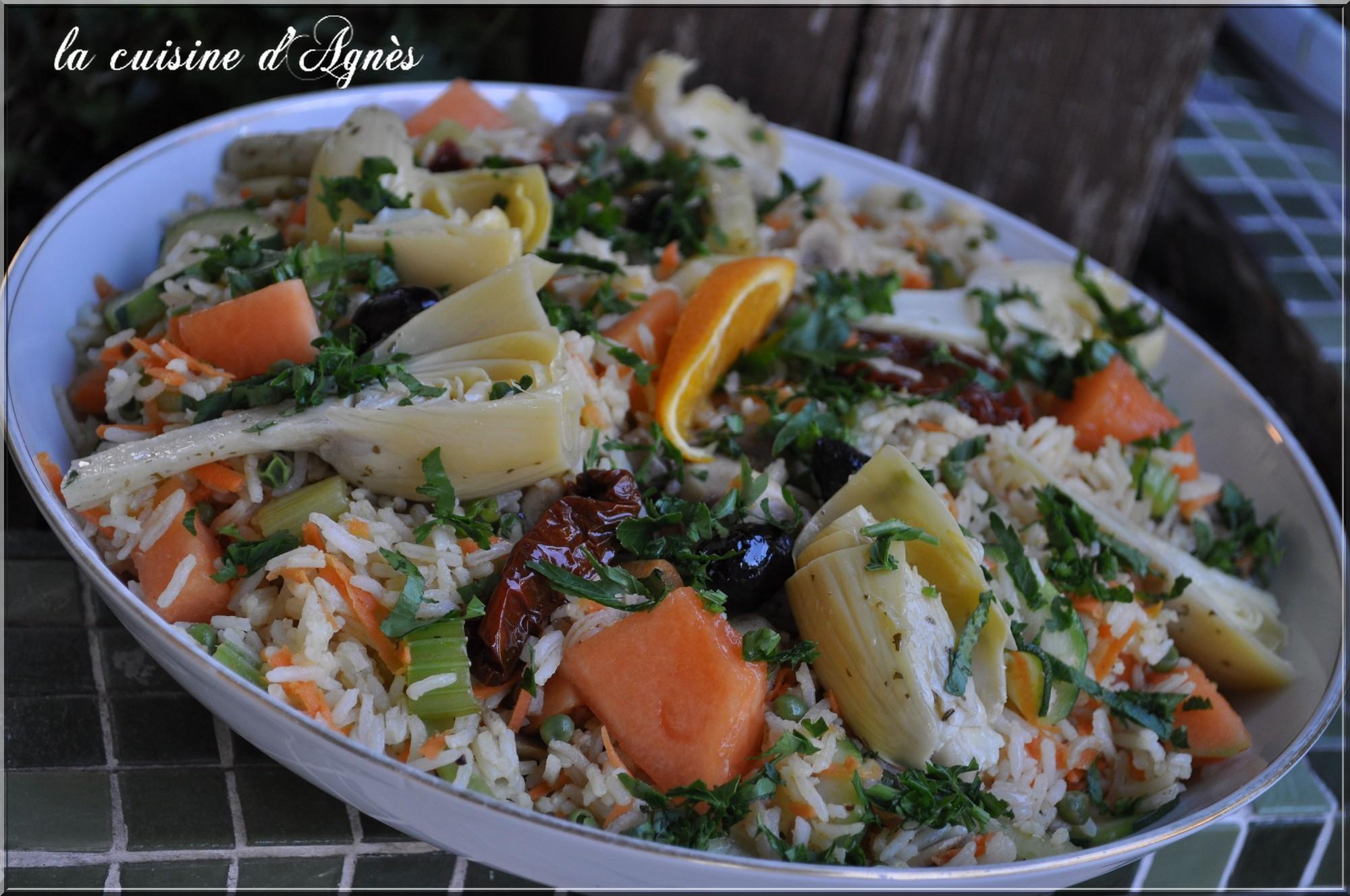 salade tide de riz aux légumes