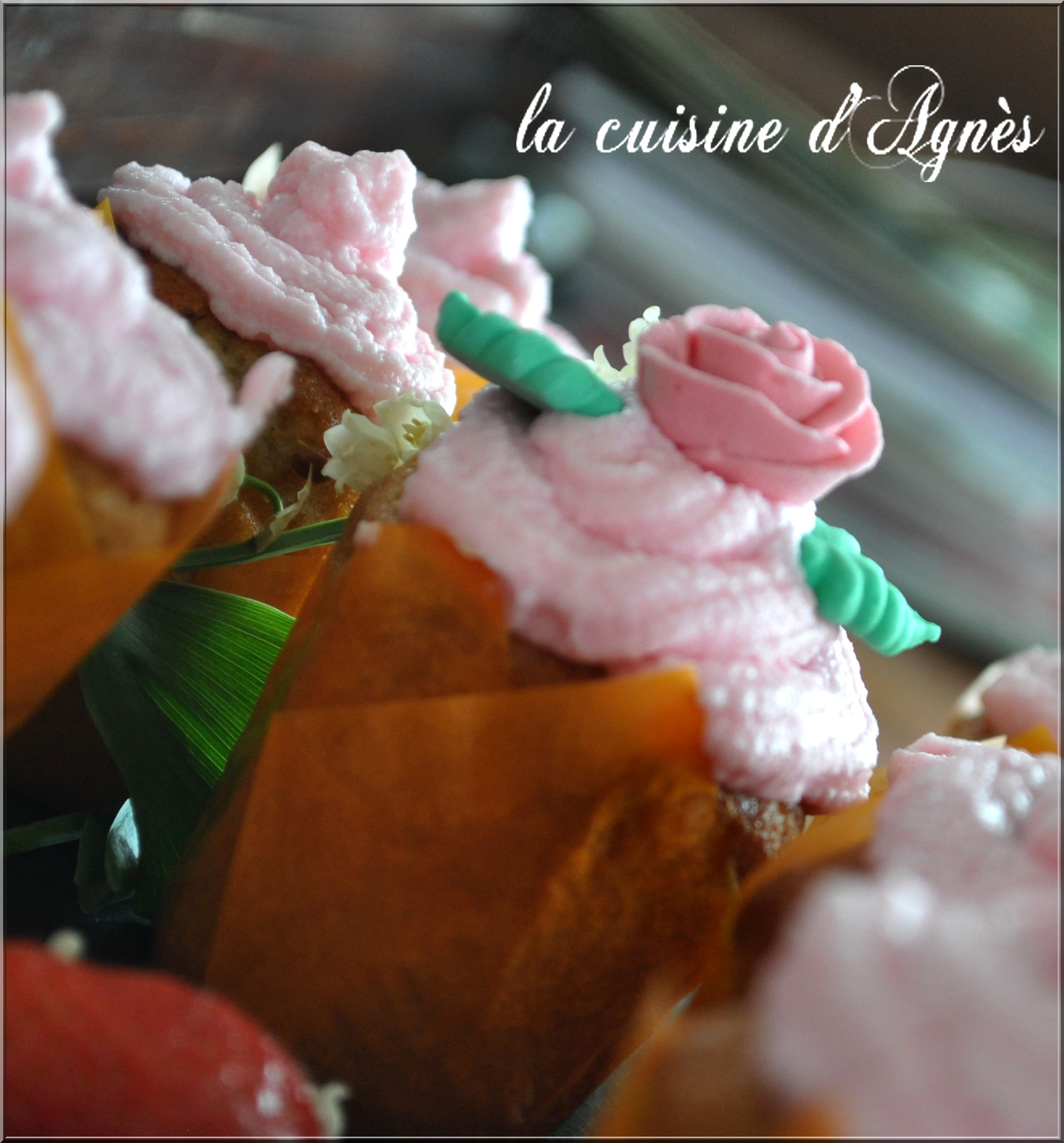 cupcakes au chocolat blanc et aux fraises