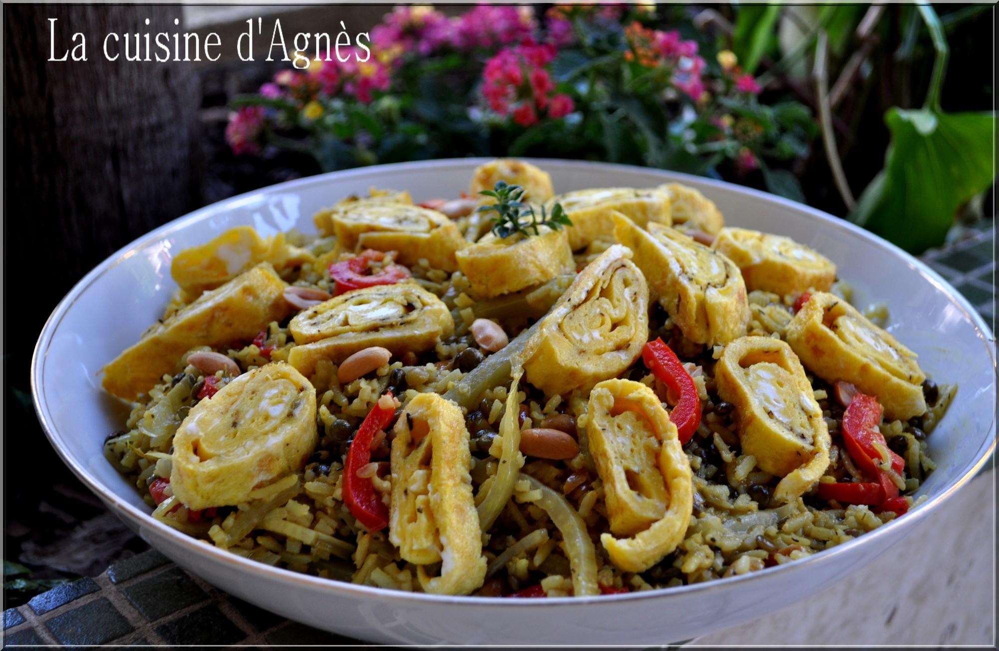 Salade de riz complet et lentilles au curry la cuisine d 39 agn sla cuisine d 39 agn s - Gramme de riz par personne ...