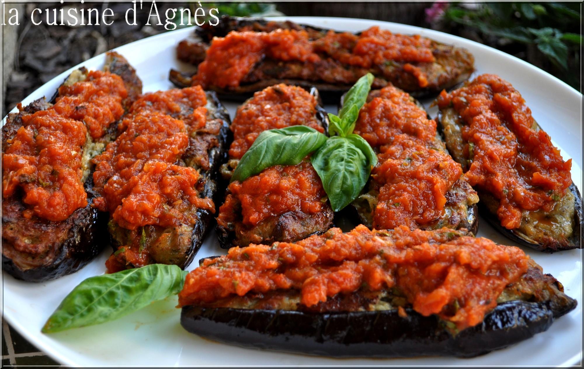 aubergines farcies à la bonifacienne