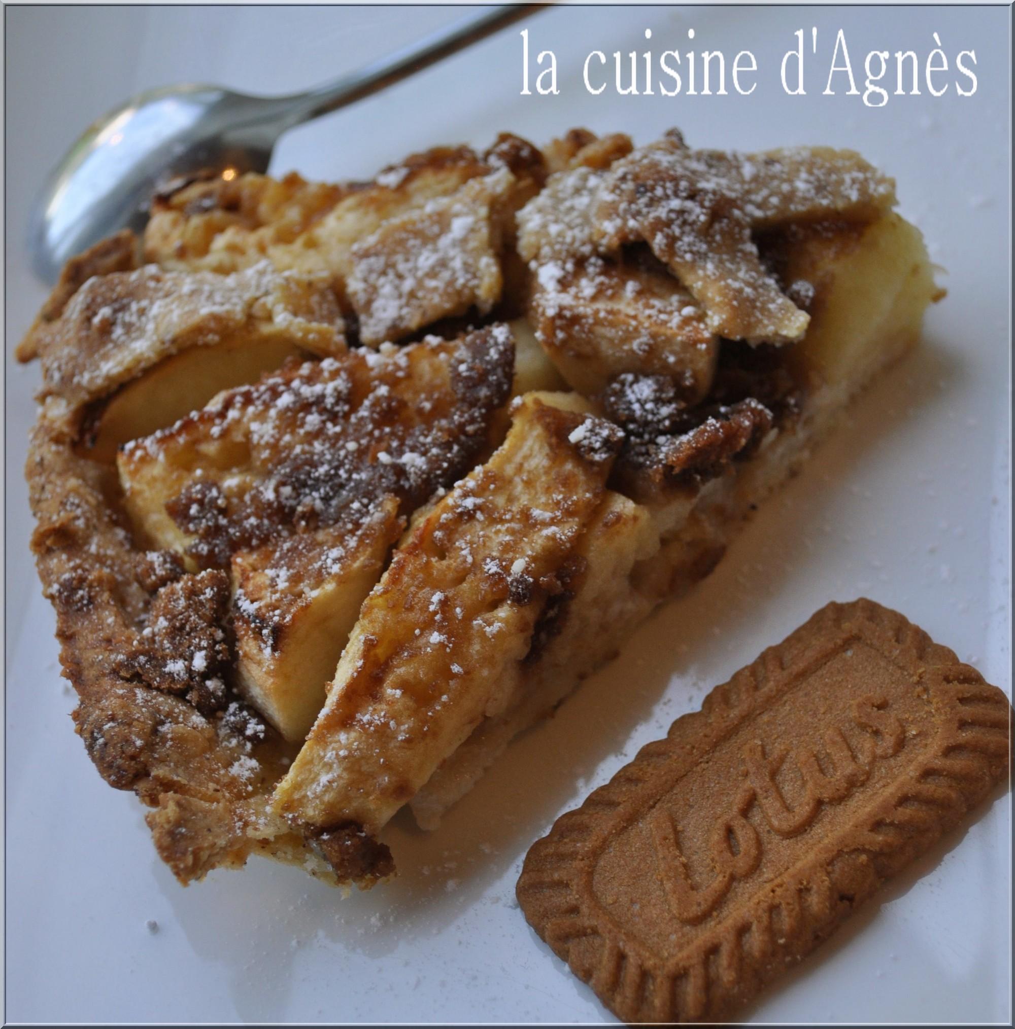 tarte aux pommes et speculoos