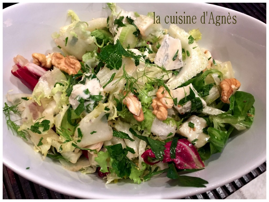 salade mélangée au gorgonzola 3