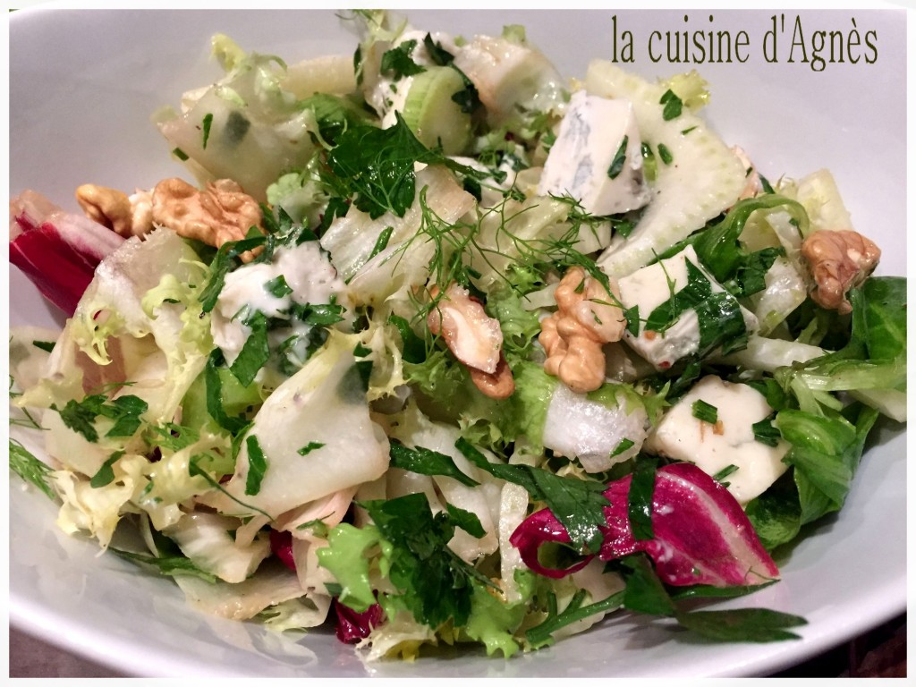 salade mélangée au gorgonzola 6