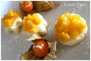 carré de mousse de citron et physallis