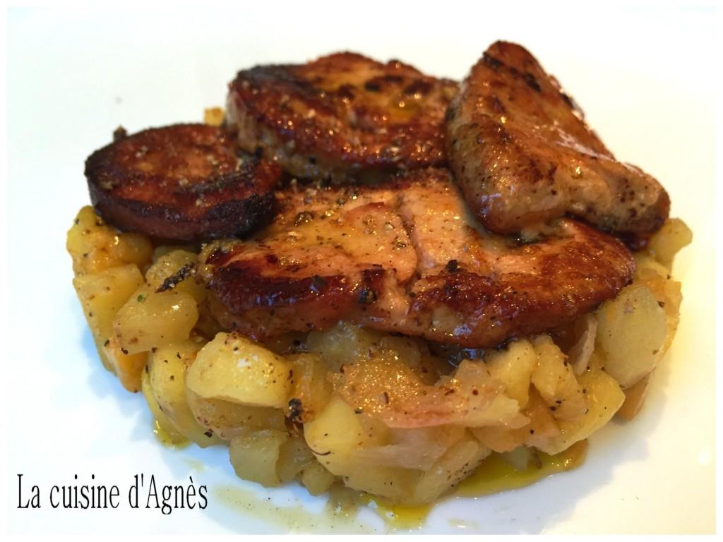Escalopes de foie gras po l es pommes kaki blogs de cuisine for Cuisine kaki