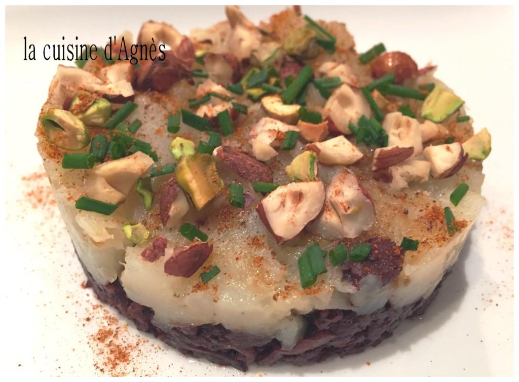 gâteau de boudin noir aux topinambours 4