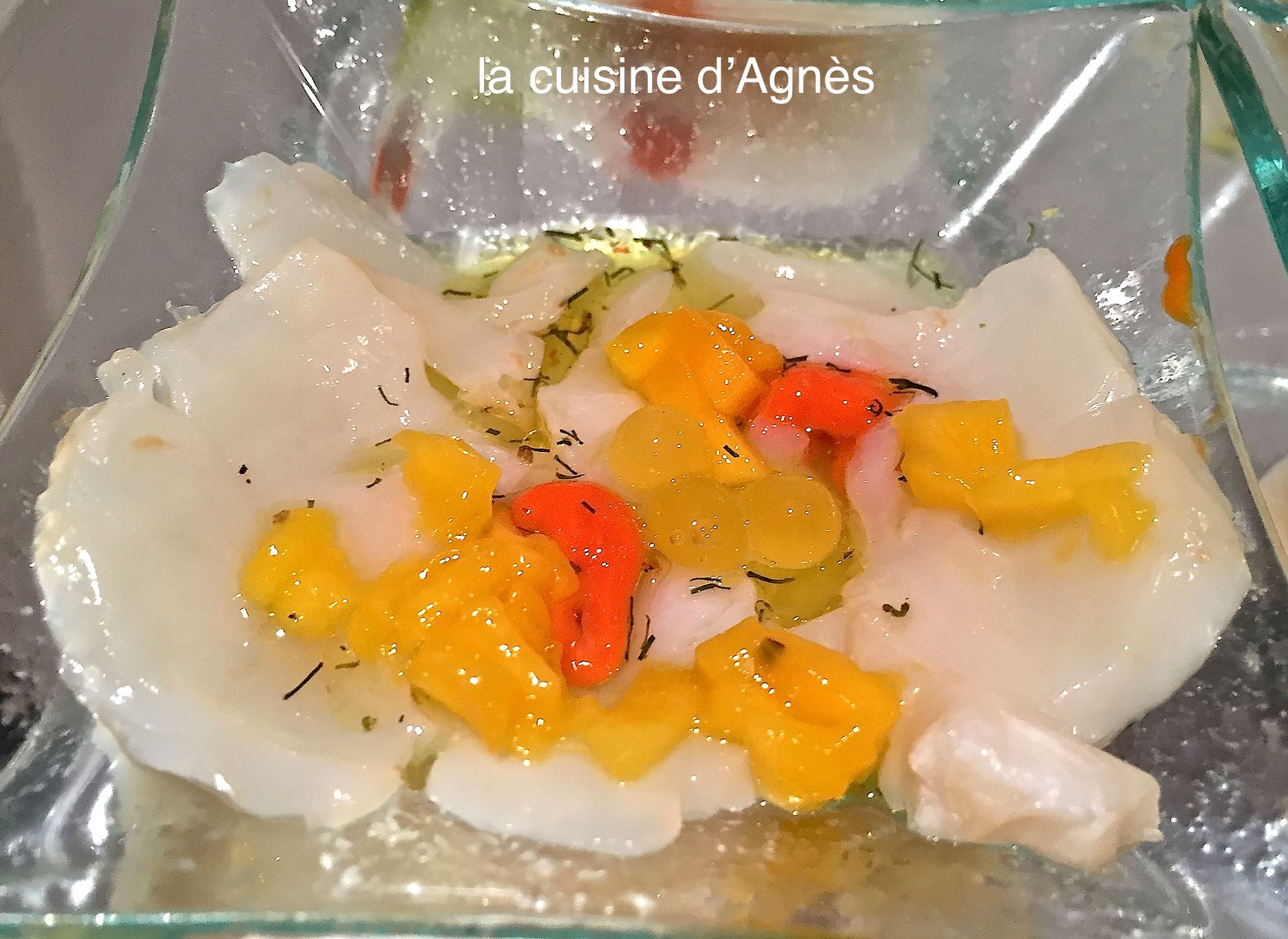 carpaccio de saint jacques à la mangue 4