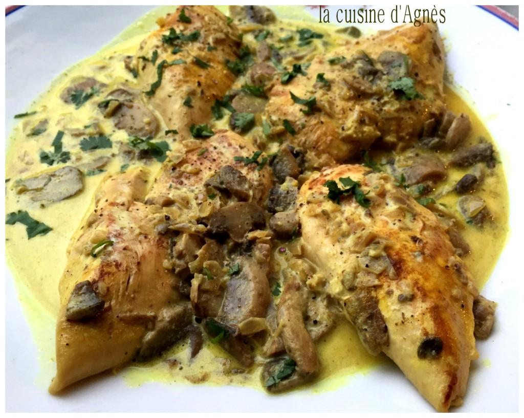 escalopes de poulet à la crème au curry 6