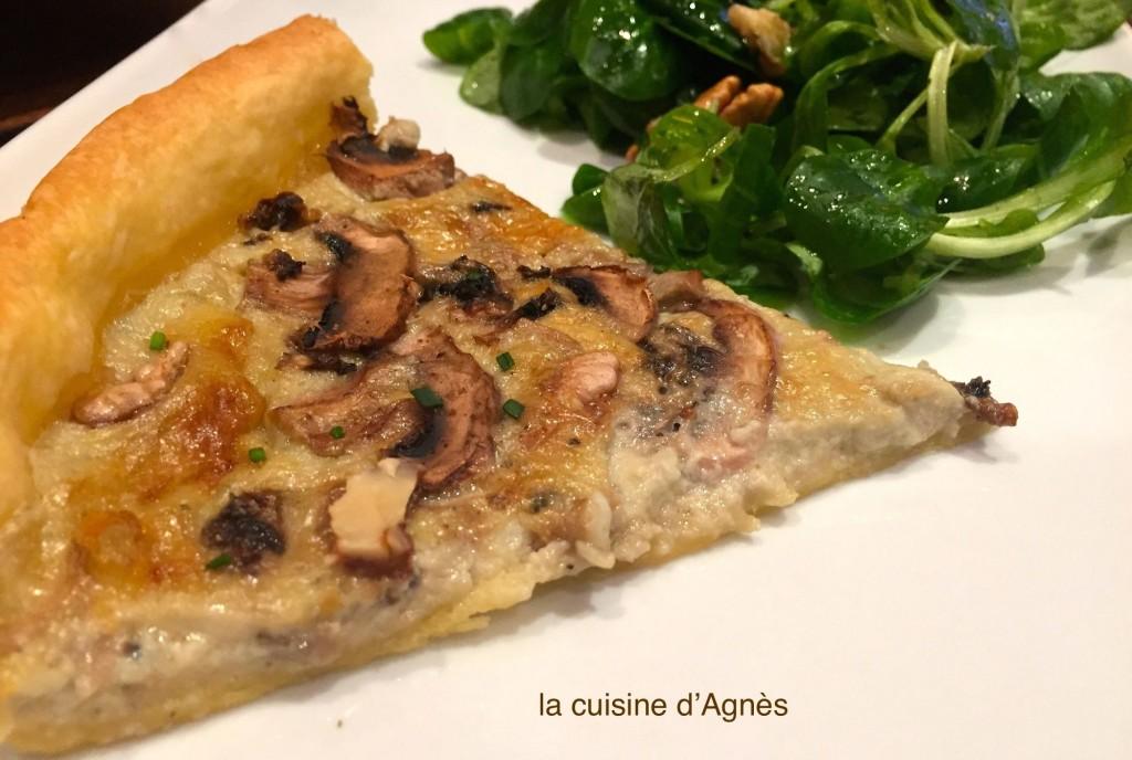 tarte à la fourme d'ambert et aux champignons 2