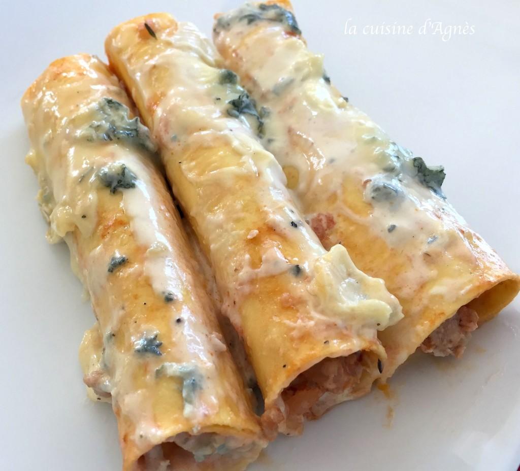 cannellonis au bleu de Bresse
