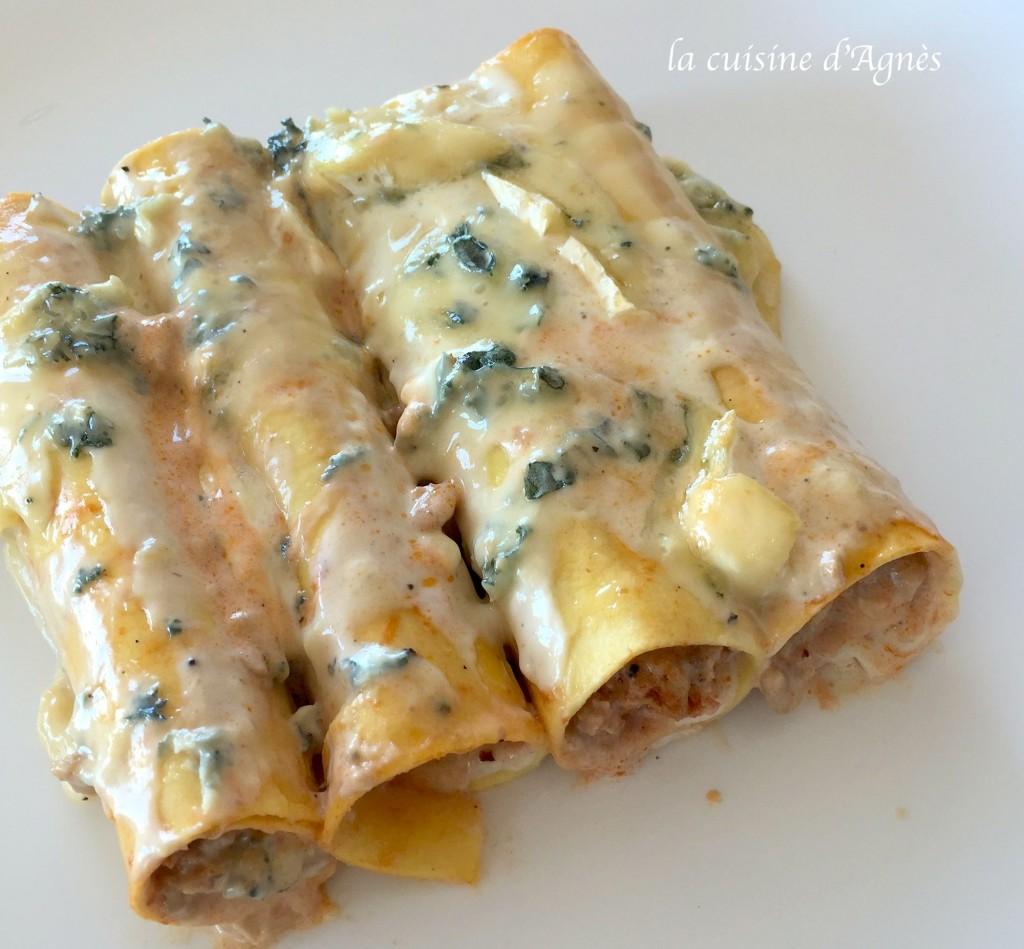 cannellonis au bleu de Bresse 6