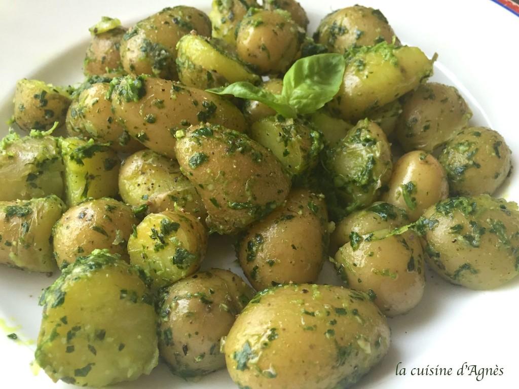 pommes de terre fondantes au pesto d'herbes 2