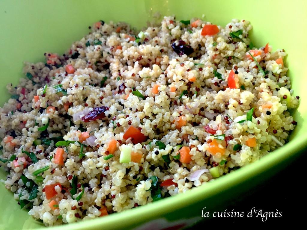 Salade de quinoa et boulgour la cuisine d 39 agn sla for Cuisine quinoa