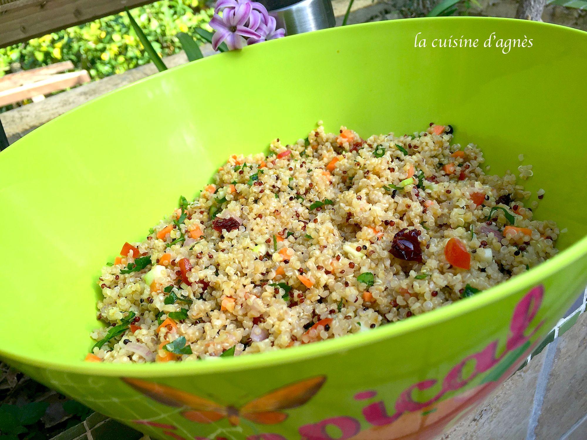 Salade de quinoa et boulgour blogs de cuisine for Cuisine quinoa