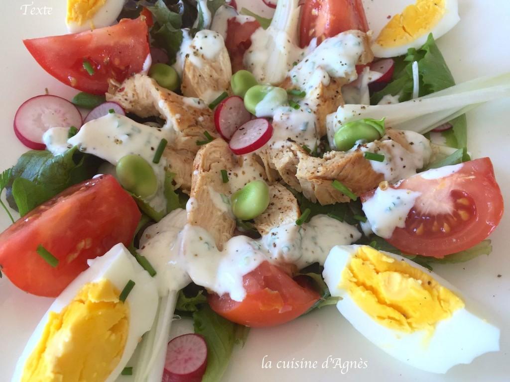 salade printanière au poulet 2