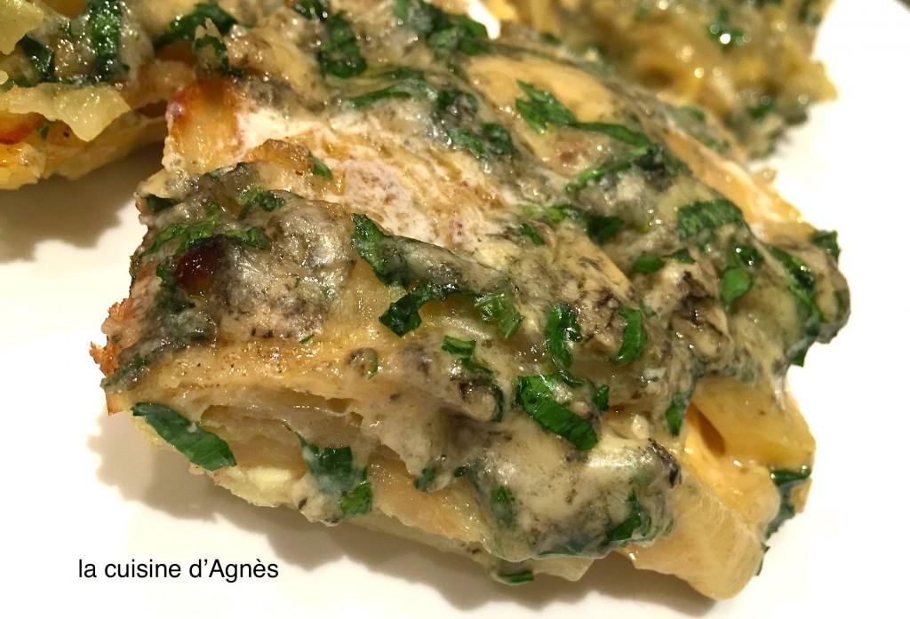 tortilla de pommes de terre persillées au bleu d'Auvergne 2
