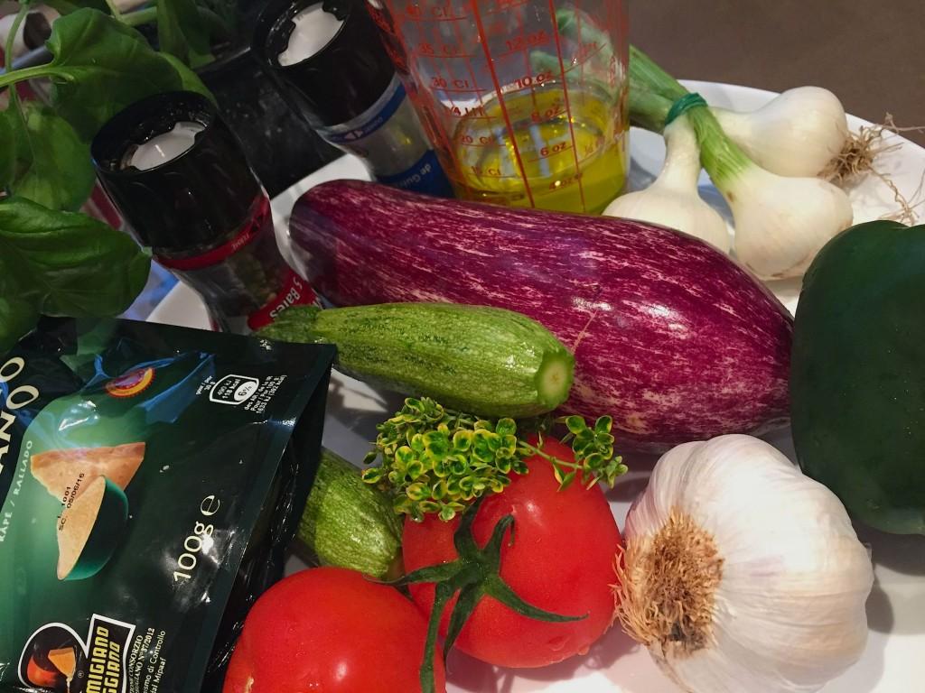 ingrédients légumes confits