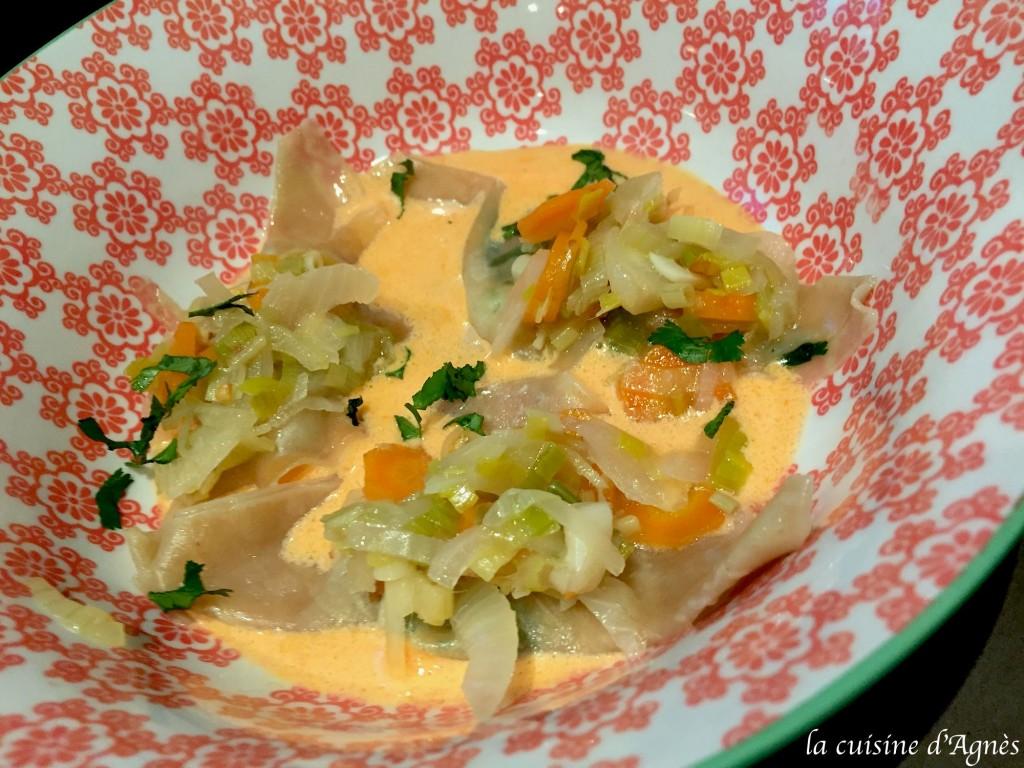 wonton de crevettes au lait de coco 2