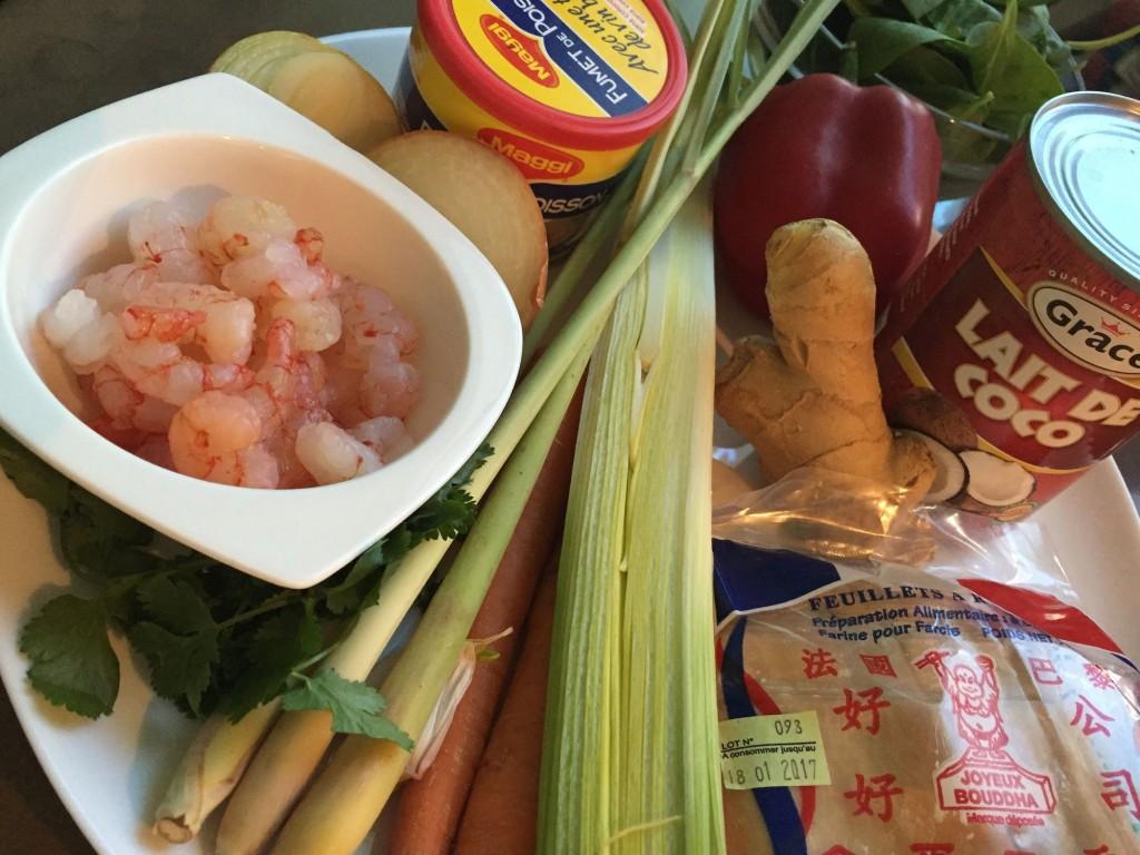 wonton de crevettes au lait de coco 7