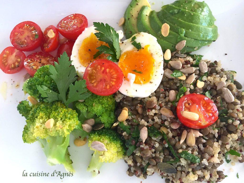 salade de quinoa brocoli et lentilles 2