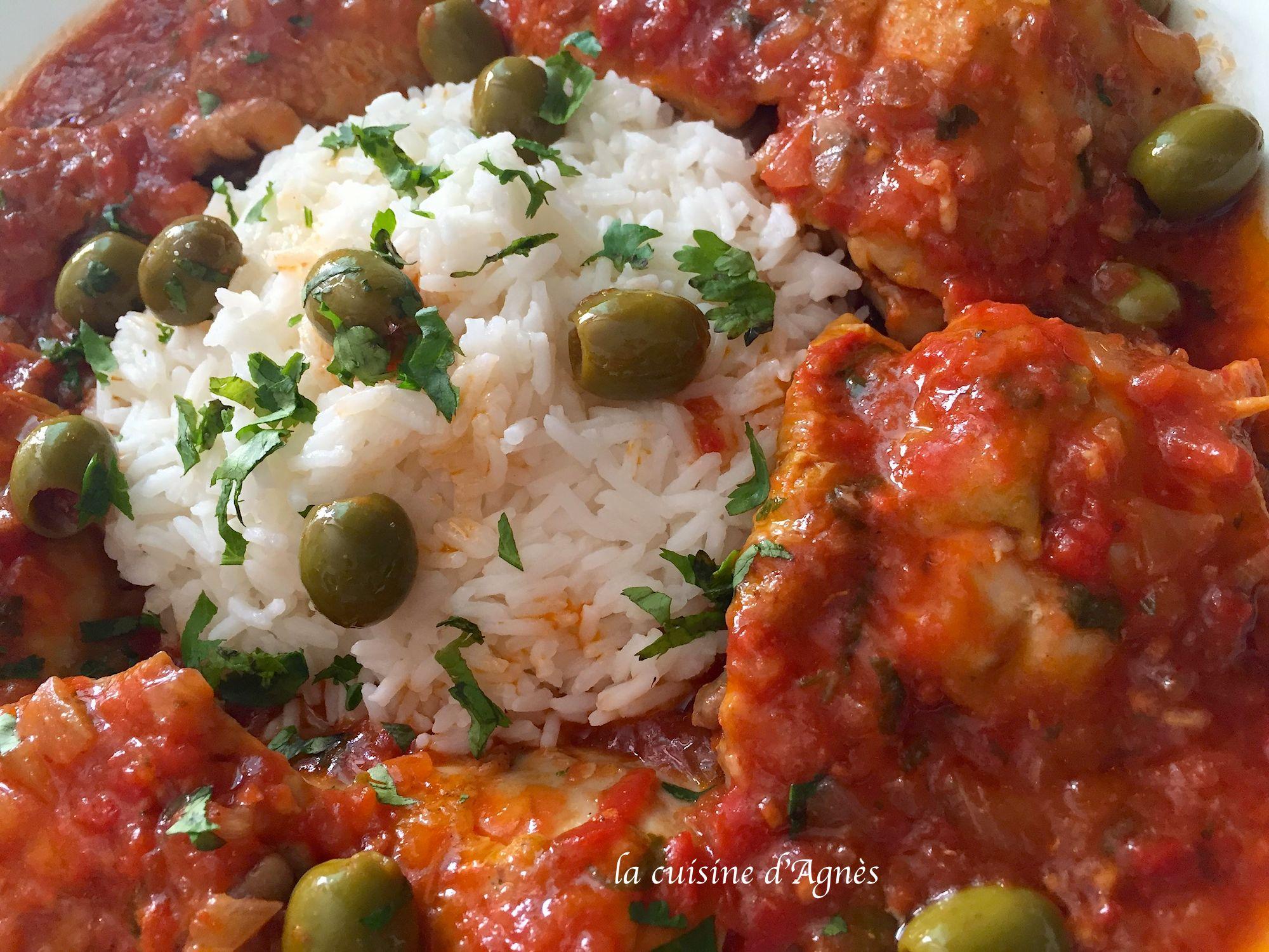 Poulet aux tomates et aux olives la cuisine d 39 agn sla - Cuisiner un poulet entier ...