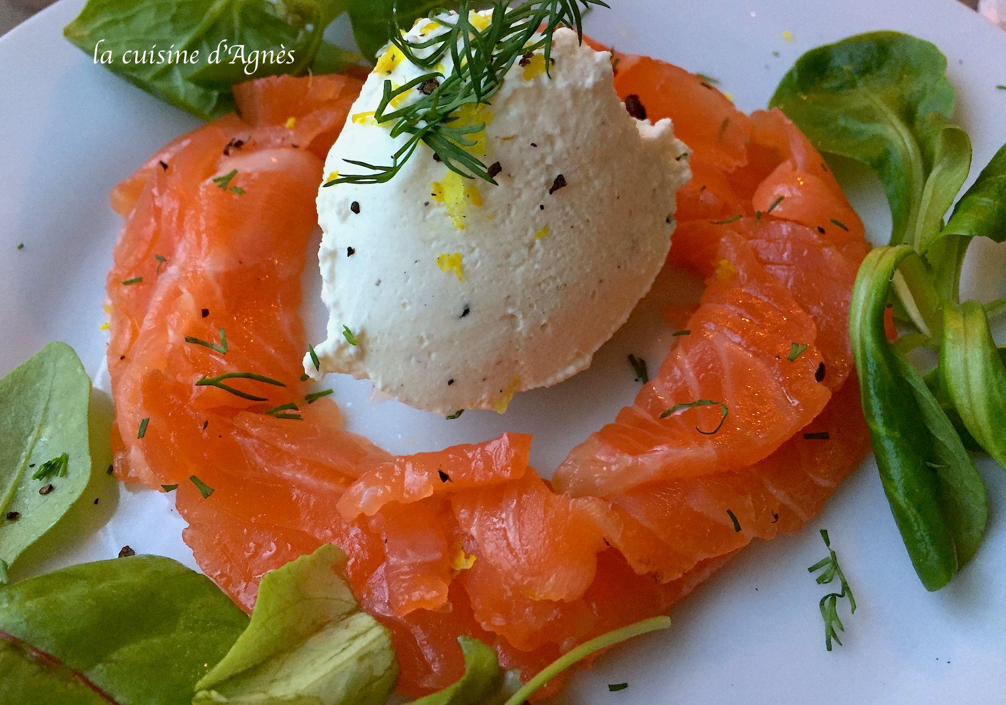 Gravlax de saumon au citron et au poivre timut et sa cr me - Saumon gravlax rapide ...