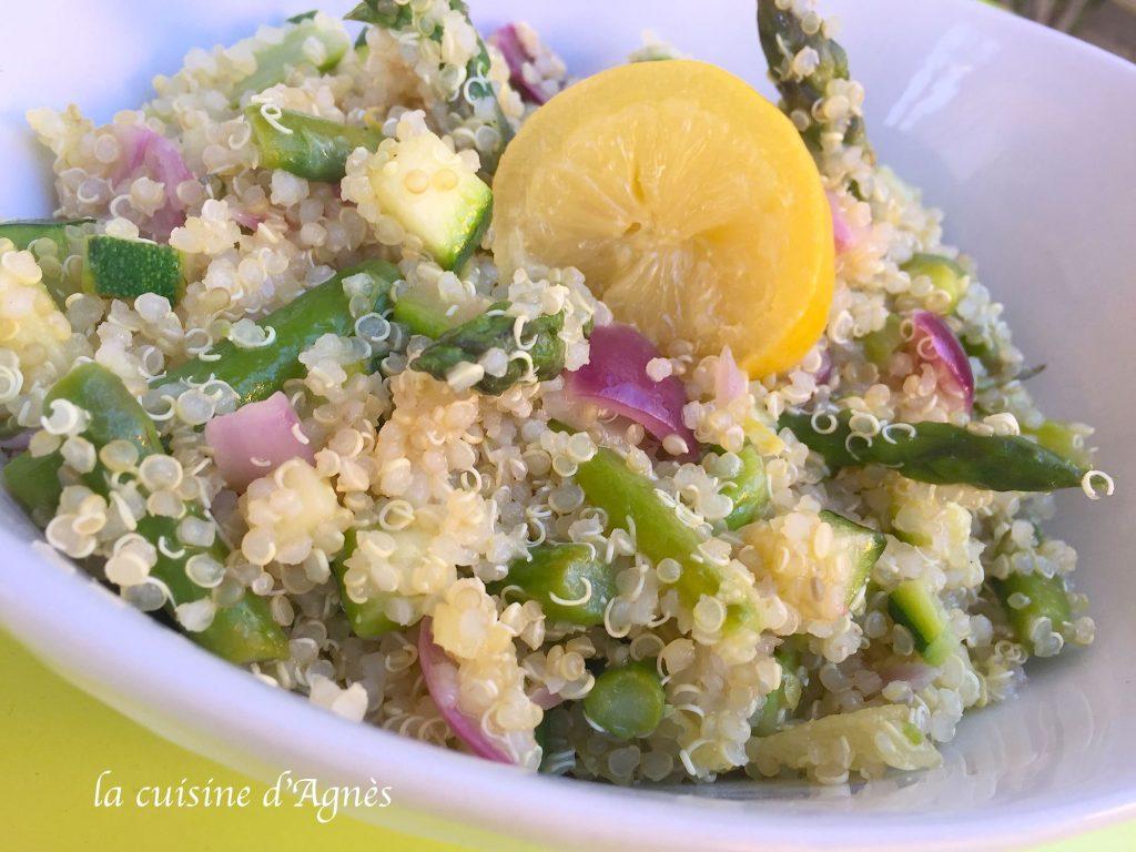 Taboul de quinoa aux asperges et au citron confit la for Cuisine quinoa