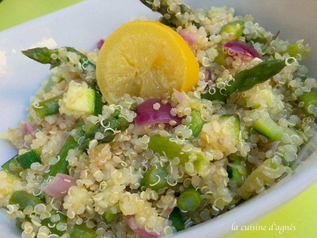 Taboul de quinoa aux asperges et au citron confit blogs for Cuisine quinoa