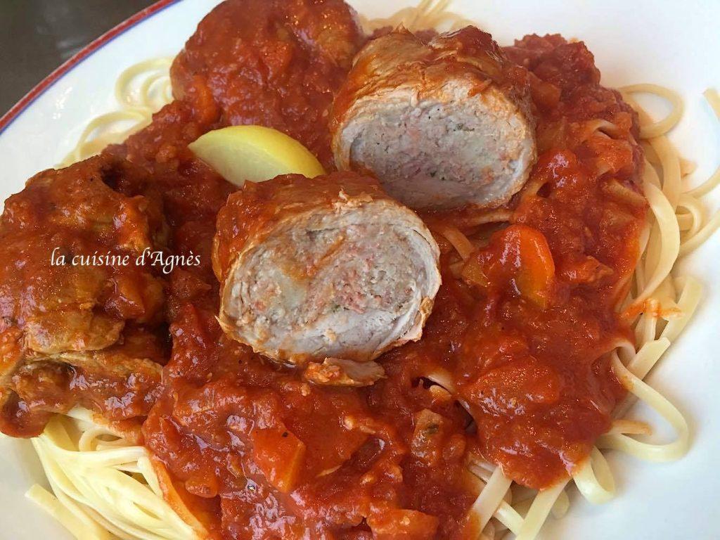 Paupiette de veau aux tomates et citron confit la - Cuisine paupiette de veau ...